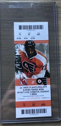2014-15 Philadelphia Flyers NHL Official Mint Ticket Stubs -