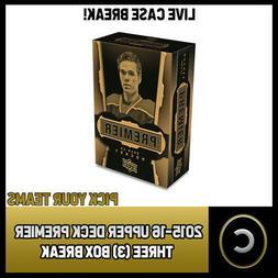 2015-16 UPPER DECK PREMIER HOCKEY 3 BOX CASE BREAK #H326 - P
