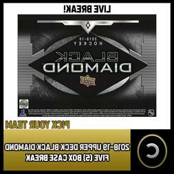 2018-19 UPPER DECK BLACK DIAMOND - 5 BOX CASE BREAK #H206 -