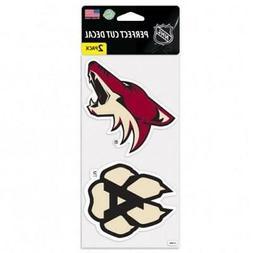 "Arizona Coyotes 2 Pack 4""x4"" Auto Decals  NHL Car Emblem Sti"