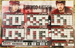 ARIZONA COYOTES 2018 - 2019 ENTIRE SEASON SCHEDULE MAGNET