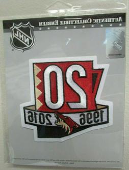 arizona coyotes 20th anniversary official hockey jersey