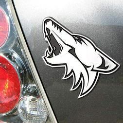 NHL Arizona Coyotes Chrome Emblem, One Size, One Color