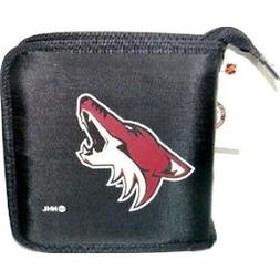 ARIZONA COYOTES NHL NYLON MUSIC CD Case Holder - DVD OR BLU-