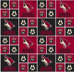 Arizona Coyotes Cotton Fabric-NHL Cotton Quilting Fabric Sol
