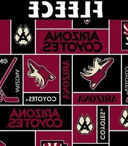 Arizona Coyotes Fleece Fabric-NHL Fleece Blanket Fabric Sold