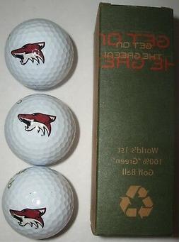 Arizona Coyotes Golf Balls Set of 3 NHL Logo Dixon Earth Eco