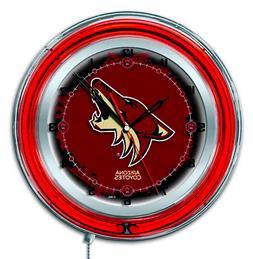 Arizona Coyotes HBS Neon Red Hockey Battery Powered Wall Clo