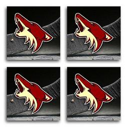 Arizona Coyotes Hockey Rubber Square Coaster set  SRC2061