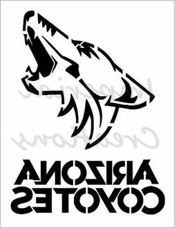 """ARIZONA COYOTES"" Hockey Team Sports 8.5"" x 11"" Stencil Plas"