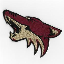 arizona coyotes i iron on patch embroidered