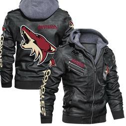 Arizona Coyotes- Leather Jacket, Best gift, New jacket- SIZE