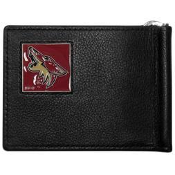 arizona coyotes logo nhl hockey emblem leather bill clip wal