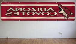 Arizona Coyotes NHL Banner Flag 2X8Ft Hockey Flag Decor Hous
