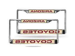 Arizona Coyotes NHL Chrome Metal  Laser Cut License Plate Fr
