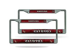 Arizona Coyotes NHL Chrome Metal  License Plate Frame Set