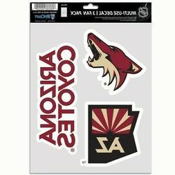 Arizona Coyotes Wincraft NHL Decal Sheet Multi Use Decal