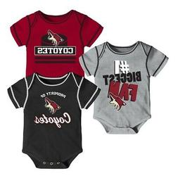 Arizona Coyotes NHL Infant Black/Red/Grey #1 Biggest Fan 3 P