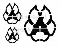 """ARIZONA COYOTES PAW 3"" Hockey Team 8.5"" x 11"" Stencil Plast"