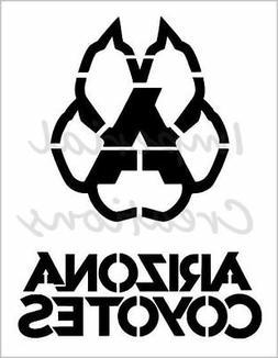 """ARIZONA COYOTES PAW"" Hockey Team 8.5"" x 11"" Stencil Plastic"