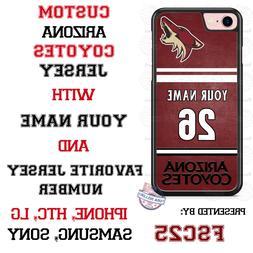 Arizona Coyotes Personalized Hockey Jersey Phone Case Cover