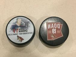 ARIZONA COYOTES SHANE DOAN NUMBER RETIREMENT PUCK SET FROM 2