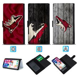 Arizona Coyotes Sliding Flip Case For iPhone 6 6s 7 8 Plus X