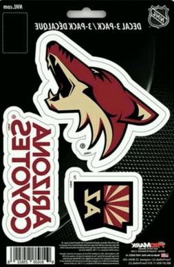 Arizona Coyotes Team ProMark Die-Cut Decal Stickers 3Pack