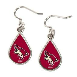 WinCraft Arizona Coyotes Tear Drop Dangle Earrings