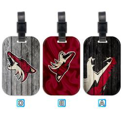 Arizona Coyotes Wood Luggage Tag Suitcase Trip Travel Bag