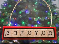 Arizona Coyotes Yotes Christmas Ornament Scrabble Tiles Magn