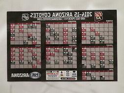 coyotes 2014-15 magnet SCHEDULE sponsor FOX sports ARIZONA p