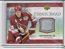 Ed Jovanovski Arizona Coyotes 2007-08 Upper Deck Jersey Card