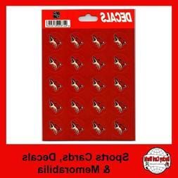 """Arizona Coyotes Vinyl Sticker Sheet 5""""x7"""" Decals - 1"""" Round"""