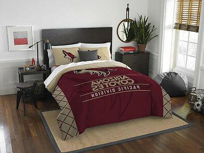 arizona coyotes 3 piece full queen comforter