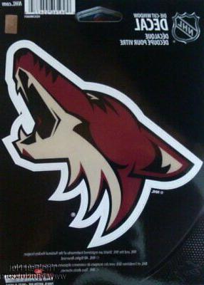 arizona coyotes 5 vinyl die cut decal