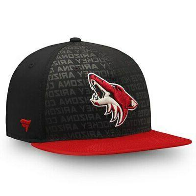 arizona coyotes authentic pro rinkside emblem snapback