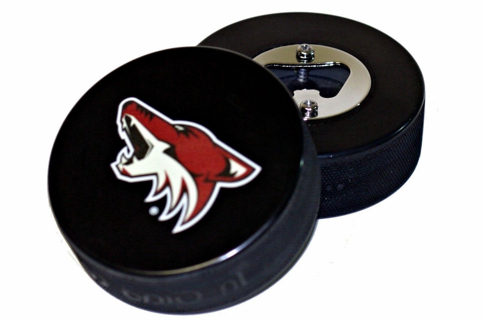 arizona coyotes basic logo nhl hockey puck