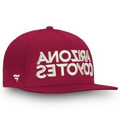 arizona coyotes depth emblem snapback adjustable hat