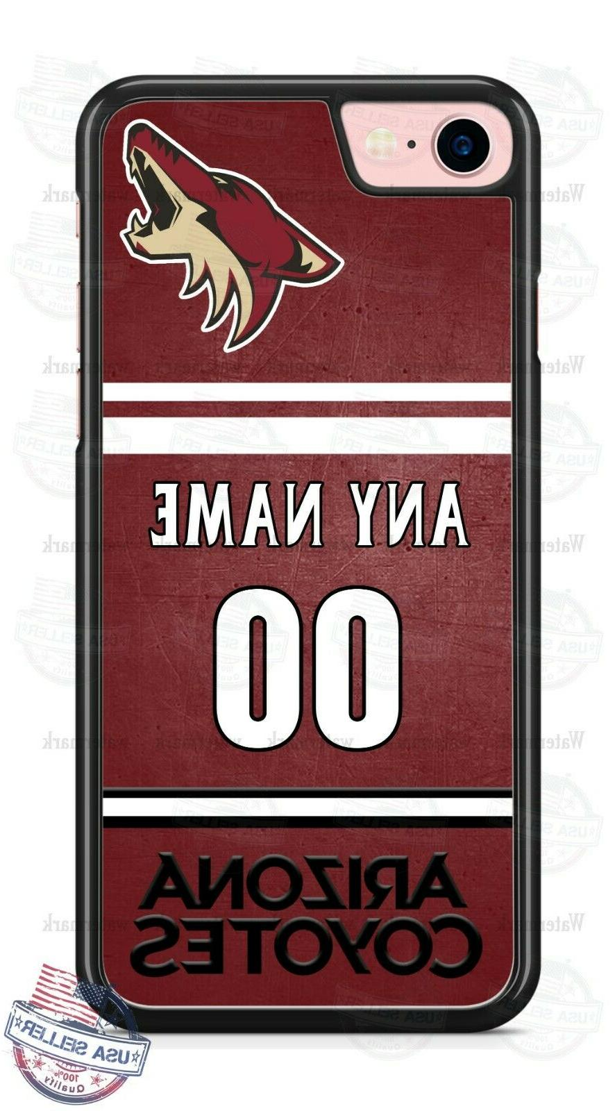 arizona coyotes hockey phone case cover name