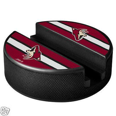 arizona coyotes hockey puck media device holder