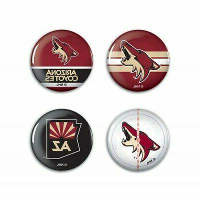 arizona coyotes nhl button pins 4 pack