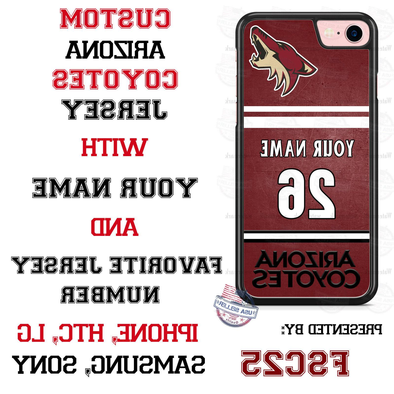 arizona coyotes personalized hockey jersey phone case