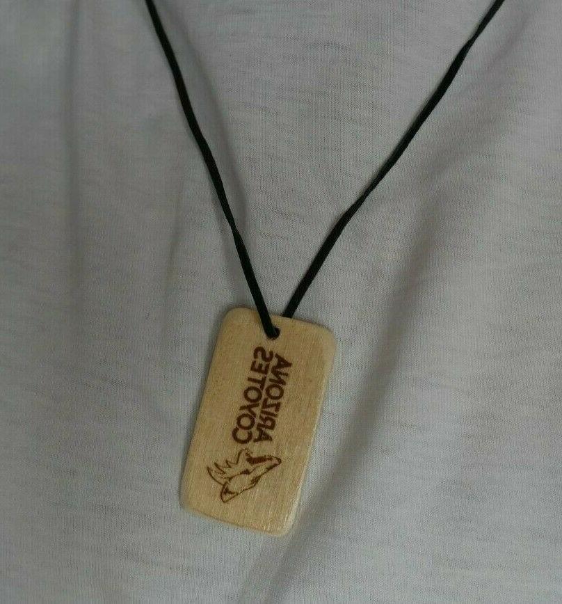 arizona coyotes phoenix necklace nhl handmade wood