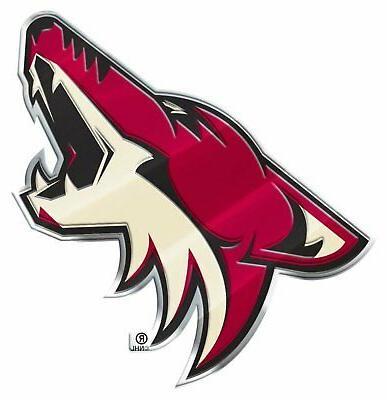 arizona coyotes premium raised metal color chrome