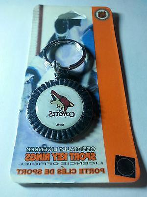coyotes phoenix arizona round key ring new