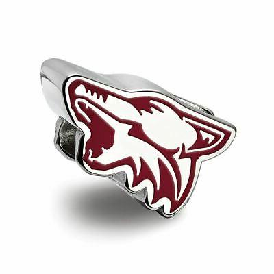 logoart nhl arizona coyotes sterling silver cushion