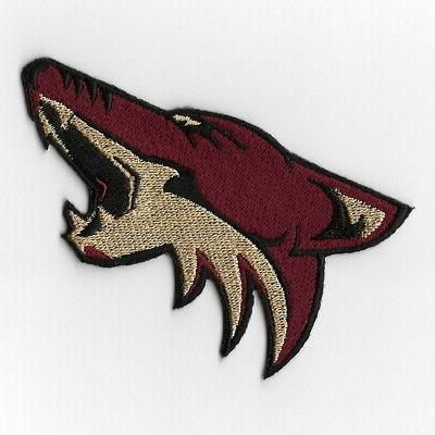 nhl arizona coyotes iron on patches embroidered