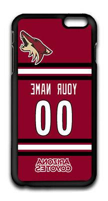 NHL Arizona Coyotes Personalized Name/Number iPhone iPod Cas