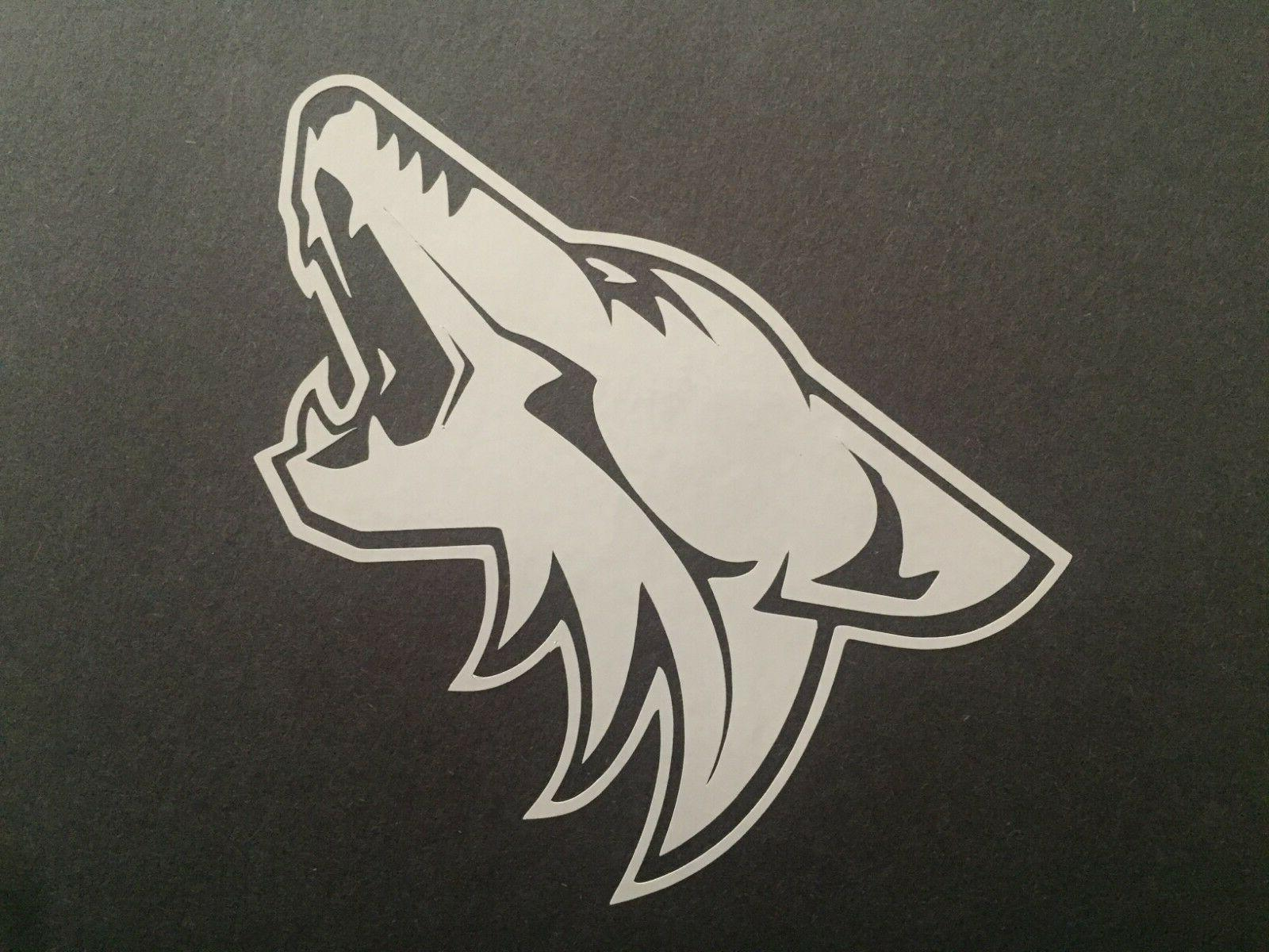 nhl arizona coyotes white vinyl sticker decal